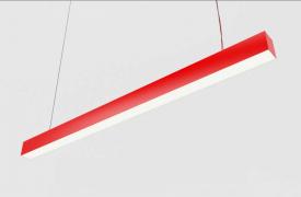 Лінійний світильник Glauber Liner 36W 4000K 1200mm червоний