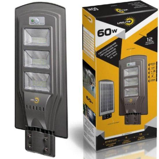 LED світильник вуличний 60W на сонячній батареї 6500K IP65 VARGO Unilite VS-109547