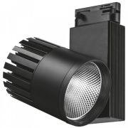 Трековый светодиодный светильник 40W 4000K черный Feron AL105