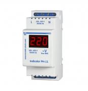 Цифровой вольтметр на din-рейку 220В Новатэк РН-11