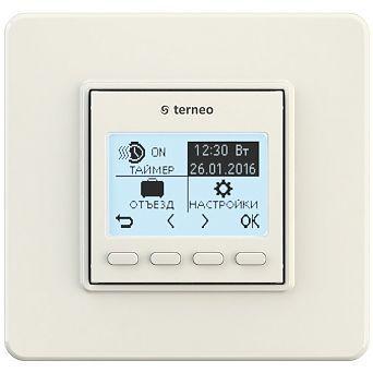 Програмований тижневий терморегулятор terneo pro (слонова кістка)