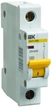 Автоматический выключатель BA47-29M 1P 0,5А 4.5kA х-ка C IEK (MVA21-1-D05-C)