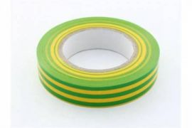 Ізострічка 0,18х19 мм жовто - зелена 20 метрів ІЕК UIZ-20-10-K52