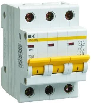 Автоматический выключатель ВА47-29 3P 50A 4,5кА х-ка C IEK (MVA20-3-050-C)