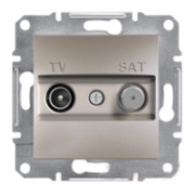 Розетка TV - SAT кінцева ASFORA Бронза Schneider Electric EPH3400169