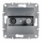 Розетка TV - SAT кінцева ASFORA Сталь Schneider Electric EPH3400162