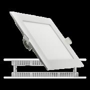 Встроенный светодиодный светильник Квадрат 18W-6000