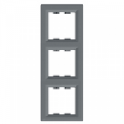 Рамка 3-местная вертикальная Сталь Asfora Plus Schneider Electric EPH5810362