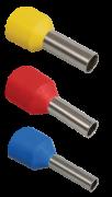 Наконечник гільза Е6012 6мм2 з ізоляційними фланцями (чорний) 1уп-100шт ІЕК UGN10-006-06-12