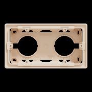 Коробка для открытой установки 2-постовая Schneider Electric Unica New бежевый