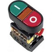 APBB-22N Кнопка Пуск-Стоп D22мм неон / 240В 1з + 1р ІЕК (BBD11-APBB-K51)
