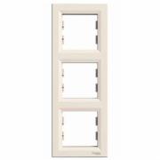 Рамка 3-місна вертикальна кремова Asfora Schneider Electric EPH5810323