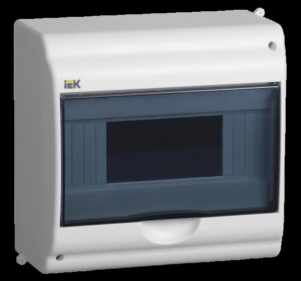 Бокс КМПн 2/9-1 на 9 модулів навісний з прозорою кришкою ІР31 ІЕК MKP72-N1-09-55