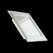 Встроенный светодиодный светильник квадрат 18W-6000 GLASS