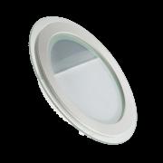 Встроенный светодиодный светильник Круг 12W-4000 GLASS