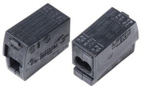 224-114 WAGO 2-провод. соединитель для освет. оборудования; 2x1,0-2.5 mm2, черн., Высокотемпературный