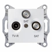 Розетка TV/R/SAT прохідна біла Sedna Schneider Electric SDN3501221