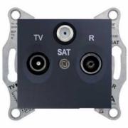 Розетка TV/R/SAT прохідна графіт Sedna Schneider Electric SDN3501270