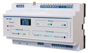 EM-486 Контроллер интерфейса MODBUS RS-485 по мобильной связи Новатэк