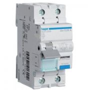 Диференційний автомат 1п + N, 20А, 30mA, С, 6kA, тип А, Hager AD970J