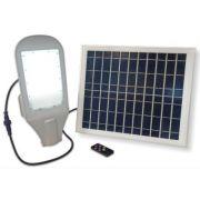 Вуличний світильник із сонячною панеллю 50W IP65 6500К Velmax V-SL-5065 Solar