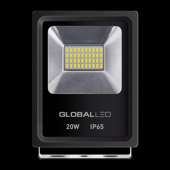 Прожектор светодиодный LED GLOBAL FLOOD LIGHT 20W 5000K ІР65 (1-LFL-002)