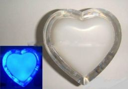 Нічник світлодіодний Lemanso Серце блакитне 3 LED / NL4