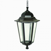Світильник вуличний чорний на ланцюжку 60W ІР44 Lemanso PL6105