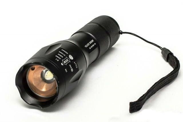 Світлодіодний ліхтарик LEMANSO 1LED надяскравий 600LM CREE чорний / LMF26