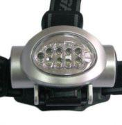 Светодиодный фонарик LEMANSO 8 белых + 2 красных LED на голову / LMF15