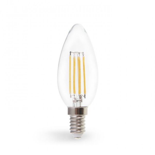 Лампа светодиодная свеча 7W E14 2700K filament Feron LB-160 C37