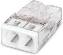 2273-242 Клемма WAGO COMPACT для распред, коробок 2X2,5, прозрачная / белая с пастой
