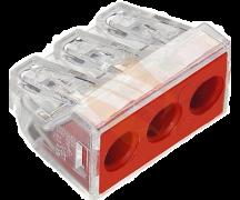 773-173 Клемма WAGO для распределительных коробок, 3 провода 2,5-6,0 мм2, 41А, без пасты
