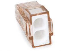 773-602 Клемма WAGO для распр. коробок на 2 моножильн. провода (1,5-4 мм2), прозрачная белая