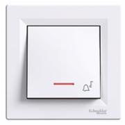 Кнопка дзвінок з підсвіткою біла Asfora Schneider Electric EPH1700121