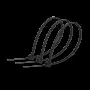 Хомут стяжка кабельна 4x300мм нейлон чорний (100 шт.)