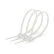 Хомут стяжка кабельна 4x300мм нейлон білий (100 шт.)
