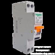 Диференційний автоматичний вимикач 1-модуль 1+N АД63K 2п 10A C 30мА Schneider Electric 12521