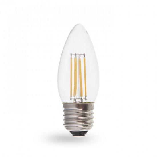 Лампа светодиодная свеча 7W E27 4000K filament Feron LB-160 C37