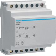 Трансформатор на DIN-рейку 230В/24В (1,67А), 230В/12В (3,33А) Hager ST314