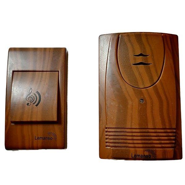 Звонок дверной дистанционный Lemanso вишня LDB55
