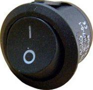 Перемикач клавішний Lemanso LSW06 круглий чорний KCD1-101-8