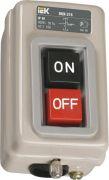 Выключатель кнопочный ВКИ-211 3Р 6А 230/400В ІР40 IEK, KVK10-06-3