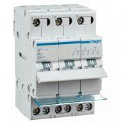 Перемикач |-О-|| з загальним виходом зверху, 3-пол., 40А/400В, 3м, Hager SFT340