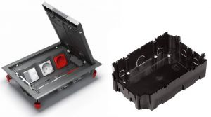 Установочная коробка для лючка 6 модулей 65х165х240 ULTRA серая Schneider Electric ETK44712