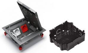 Установочная коробка для лючка 4 модуля 65х165х175 ULTRA серая Schneider Electric ETK44708