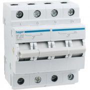 Переключатель ввода резерва 63А/250В, 1+N, 4мод, Hager SF263