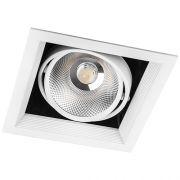 Карданний LED світильник Feron AL211 COB 30W 2600Lm 4000K біла рамка 29779