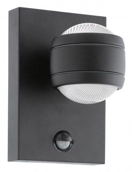 Настенный светильник уличный Eglo SESIMBA 1 3,7W 3000K IP44 с датчиком движения черный