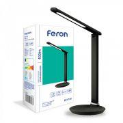 Настільний світлодіодний світильник 9Вт 2700-6500K чорний з текстурою шкіри Feron DE1728